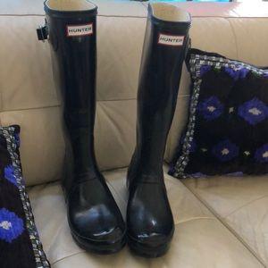 HUNTER Tall Rain Boots EUC Size 7